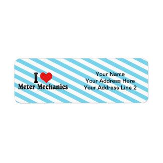I Love Meter Mechanics Custom Return Address Labels