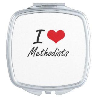 I Love Methodists Travel Mirror