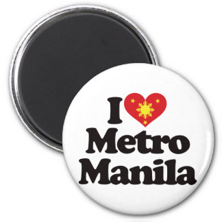 I Love Metro Manila 2 Inch Round Magnet