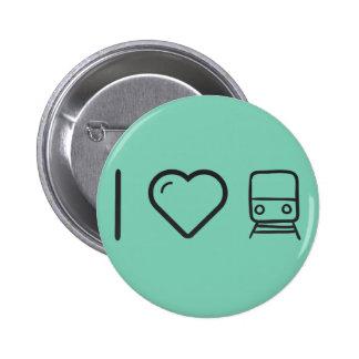 I Love Metro Trains 2 Inch Round Button