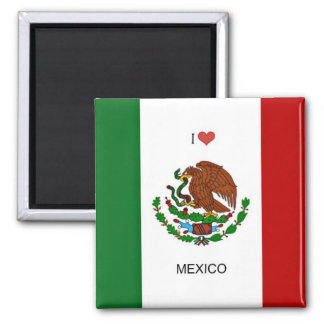 I Love Mexico, Flag of Mexico Magnet