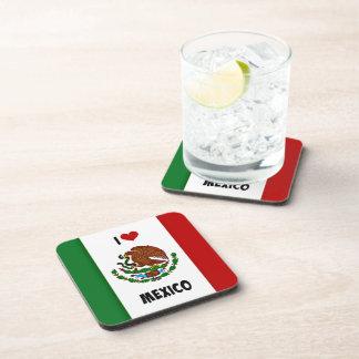 I Love Mexico, Mexican Flag Coaster