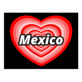 I love Mexico Postcard