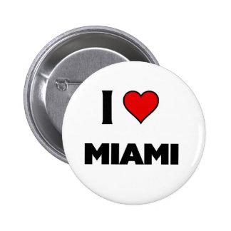 I love Miami 2 Inch Round Button