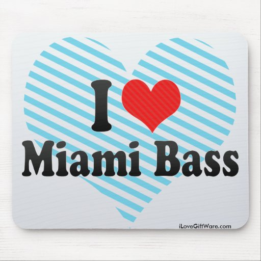 I Love Miami Bass Mouse Pads