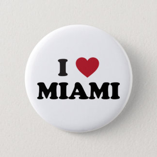 I Love Miami Florida 2 Inch Round Button
