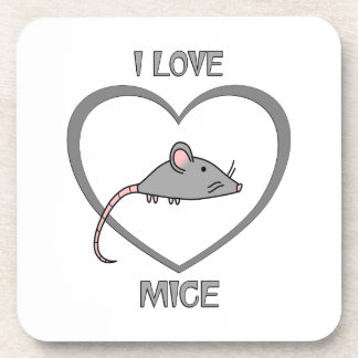 I Love Mice Coaster