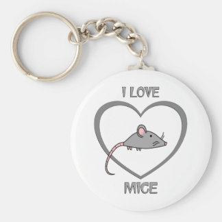 I Love Mice Keychain