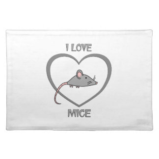 I Love Mice Placemat
