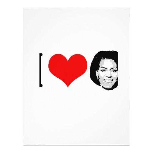 I Love Michelle red plain Flyer Design