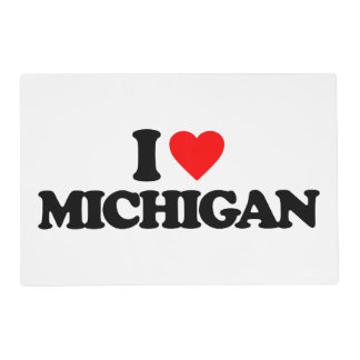 I LOVE MICHIGAN LAMINATED PLACEMAT