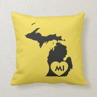 "I Love Michigan State Throw Pillow 16"" x 16"""