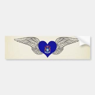 I Love Michigan -wings Bumper Sticker