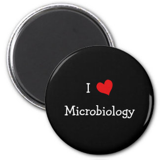 I Love Microbiology 2 Inch Round Magnet