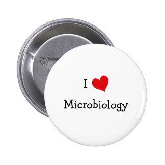 I Love Microbiology 2 Inch Round Button