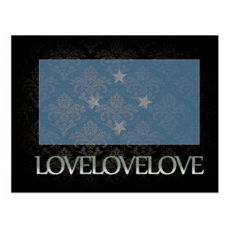 I love Micronesia Cool Postcard
