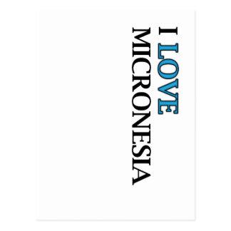I Love Micronesia Design Postcard