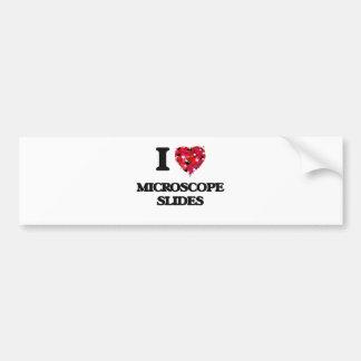 I Love Microscope Slides Bumper Sticker