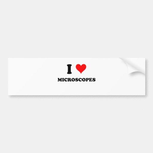 I Love Microscopes Bumper Sticker