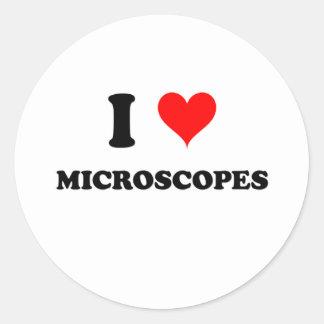 I Love Microscopes Classic Round Sticker