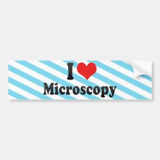 I Love Microscopy Bumper Sticker