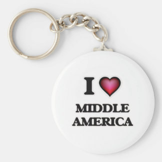 I Love Middle America Keychain