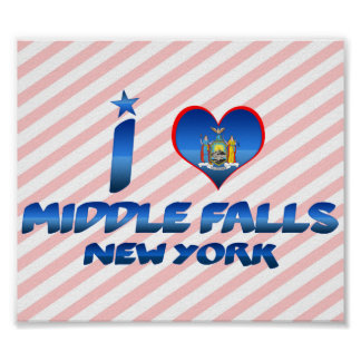 I love Middle Falls, New York Poster