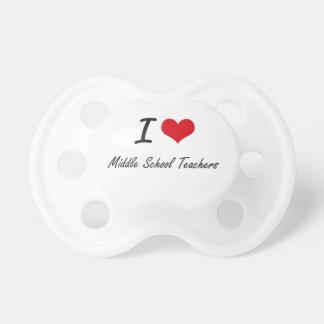 I love Middle School Teachers Pacifier
