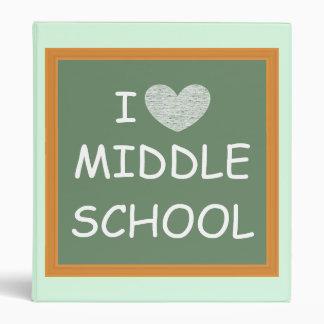 I Love Middle School Vinyl Binder
