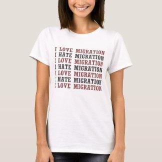 I Love Migration I Hate Migration Etc Etc T-Shirt