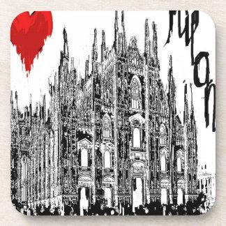 I love Milan Drink Coaster