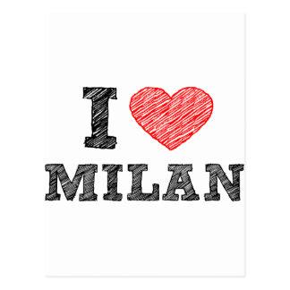 I Love Milan Postcard