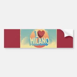 I love Milano Bumper Sticker