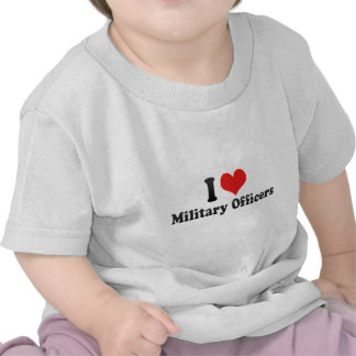 I Love Military Officers Tees