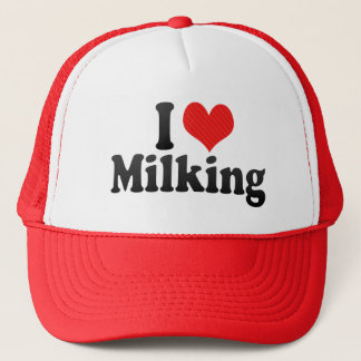 I Love Milking Trucker Hat