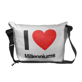 i love millenniums courier bags