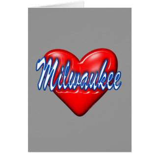 I Love Milwaukee Wisconsin Stationery Note Card