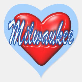 I Love Milwaukee Wisconsin Heart Sticker
