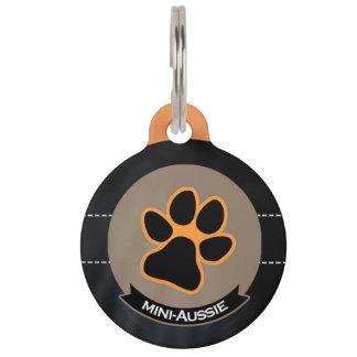 I love mini Aussies   Miniature American Shepherd Pet Name Tag