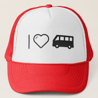 I Love Minibus Trucker Hat