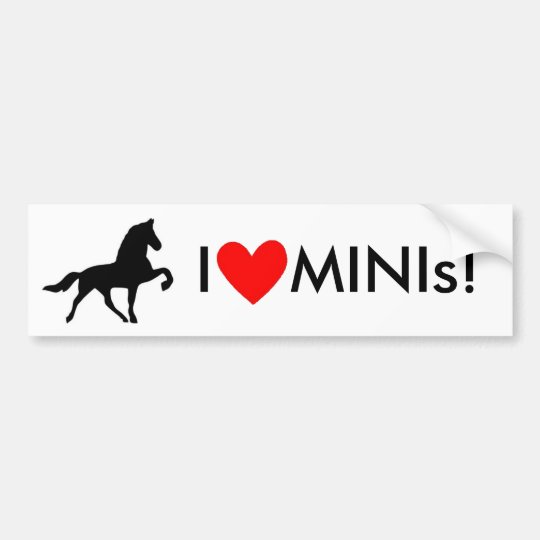 I Love MINIs! Bumper Sticker