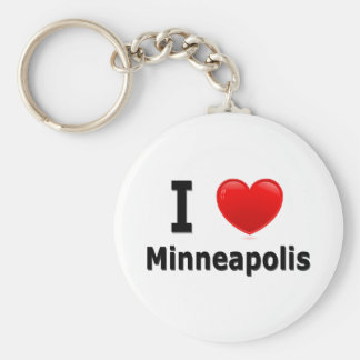 I Love Minneapolis Keychain