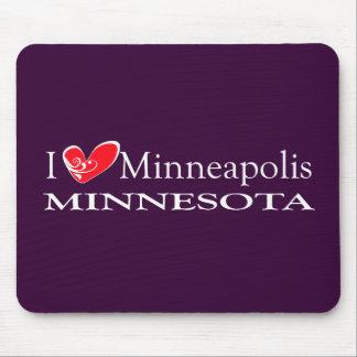 I Love Minneapolis Minnesota Mouse Pad