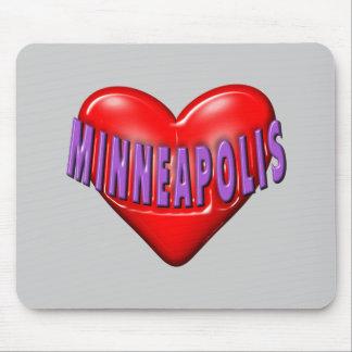 I Love Minneapolis Mouse Pad