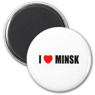 I Love Minsk 2 Inch Round Magnet