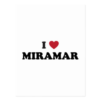 I Love Miramar Florida Postcard