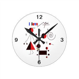 I love Miro Round Clock