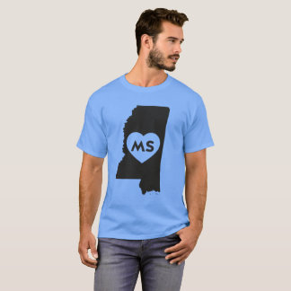 I Love Mississippi State Men's Basic Dark T-Shirt
