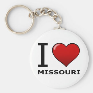 I LOVE MISSOURI BASIC ROUND BUTTON KEYCHAIN