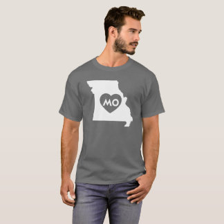 I Love Missouri State Men's Basic Dark T-Shirt